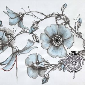Steampunk floral